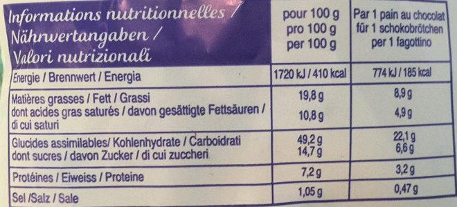 Schokobrötchen - Voedingswaarden - fr