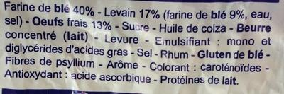 briochettes au levain pasquier - Ingredienti - fr