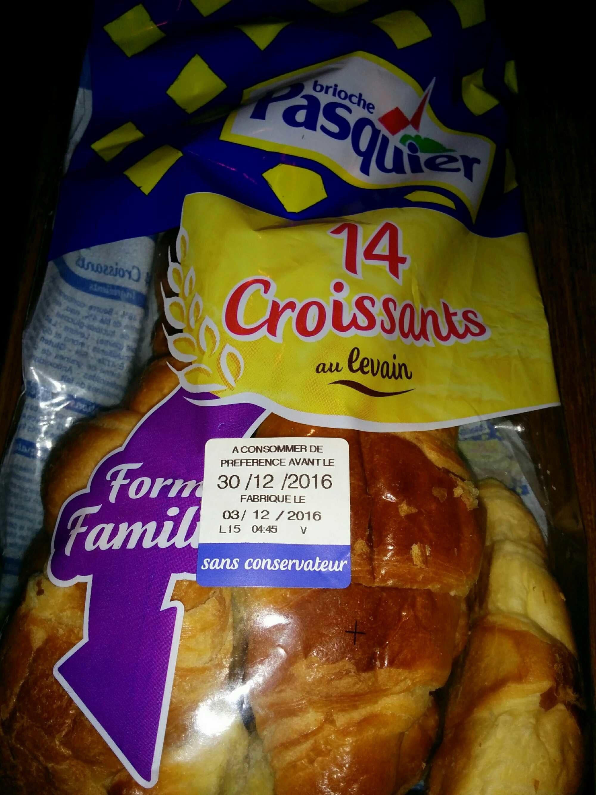 14 Croissants, au levain - Product