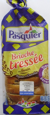 Brioche tressée au levain (Pépites de Chocolat) - Product