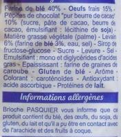 Brioche tressée au levain (Pépites de Chocolat) - Ingrediënten