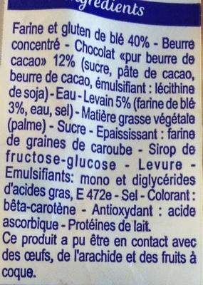 8 pains au chocolat au levain - Ingredients - fr