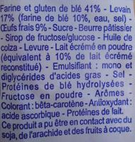 Pains au lait (x 10) au levain - 350 g - Brioche Pasquier - Ingrédients