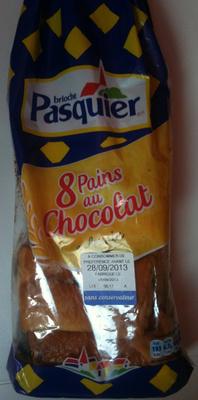 Pains au Chocolat (x 8) au levain 360 g - Brioche Pasquier - Product