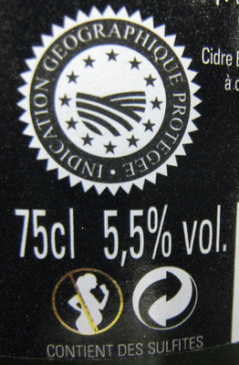 Cidre Traditionnel - Nutrition facts - fr