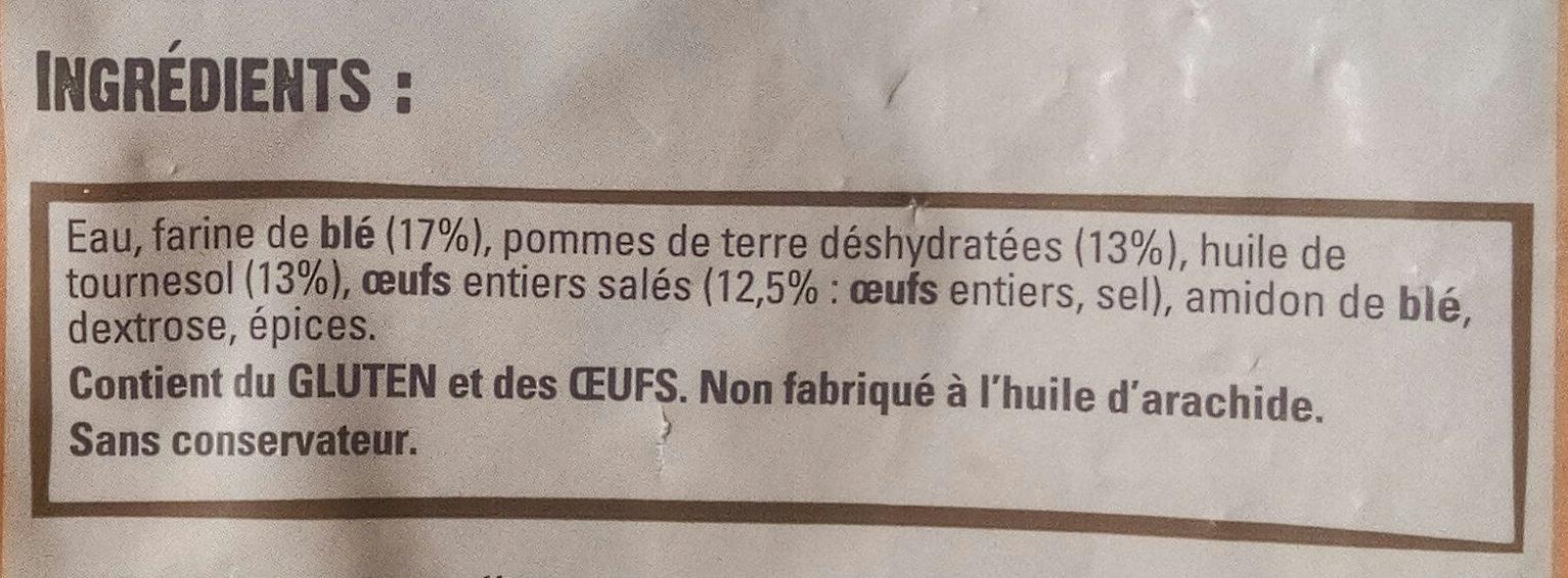 Pommes dauphine - Ingrediënten - fr