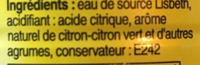 Lisbeth citron - Ingrédients - fr