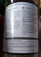Limonade Orange Sanguine - Informations nutritionnelles