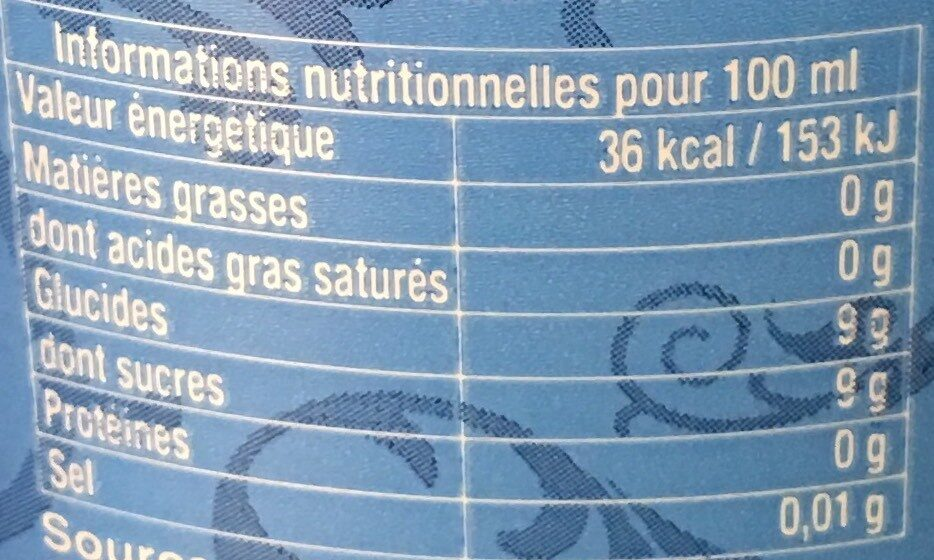 LINESS limonade 6x125 - Informations nutritionnelles - fr