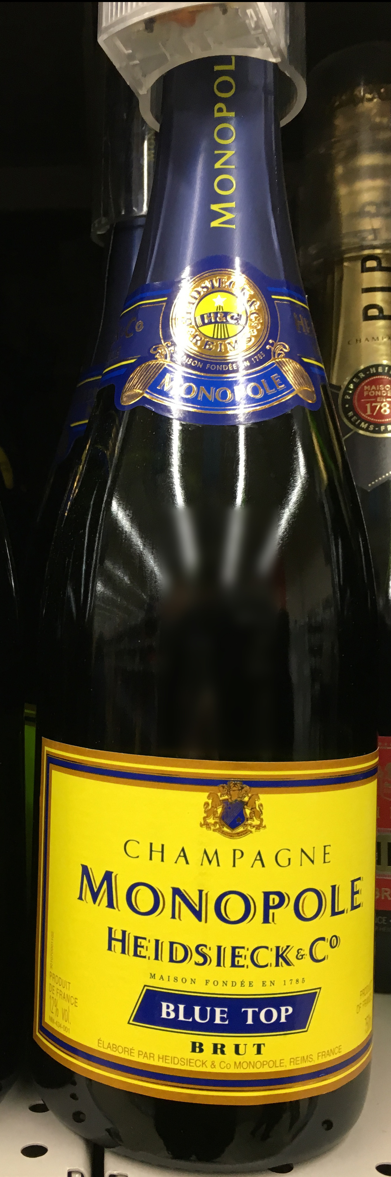 Champagne Blue Top Brut - Product - fr