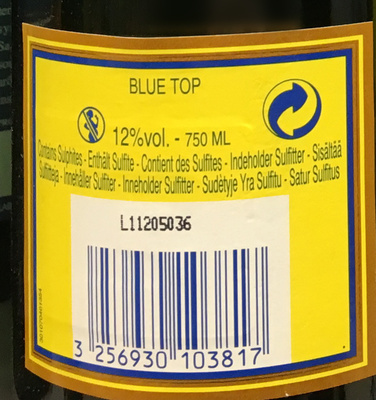 Champagne Blue Top Brut - Ingredients