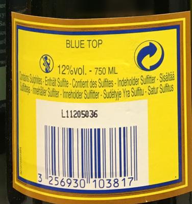 Champagne Blue Top Brut - Ingrédients