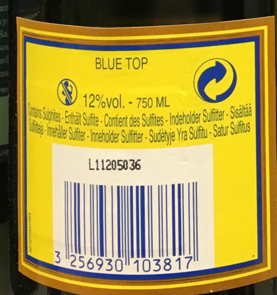 Champagne Blue Top Brut - Ingredients - fr