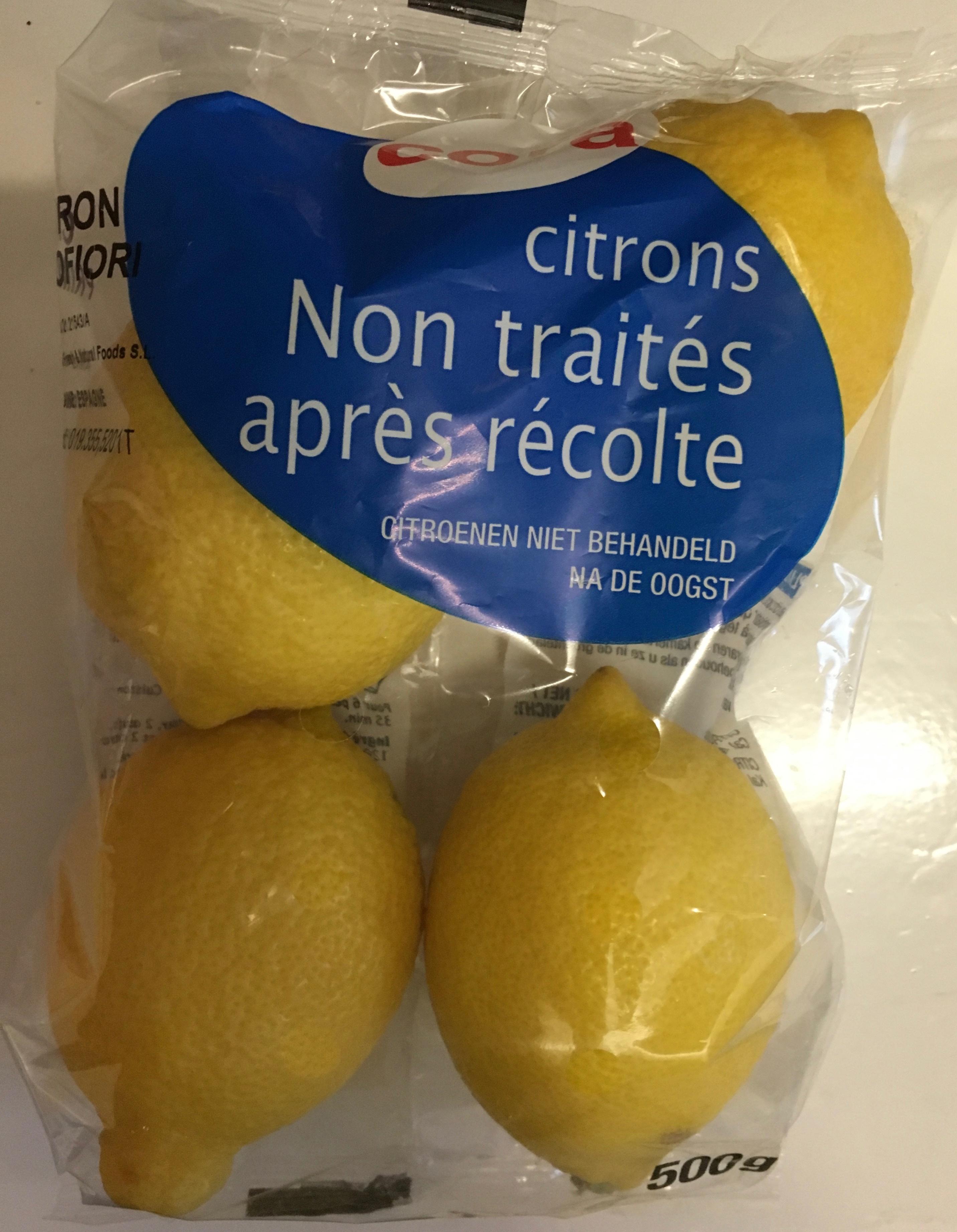 Citrons non traités après récolte - Produit - fr