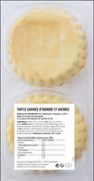 Pissaladières niçoises - Informations nutritionnelles - fr