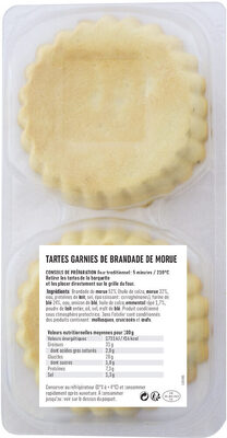Tartes brandade - Ingredients