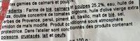 Tielles Sétoises - Ingrédients