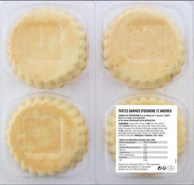 Coudène, Pissaladières, les 4 tartelettes 440 g - Ingrédients