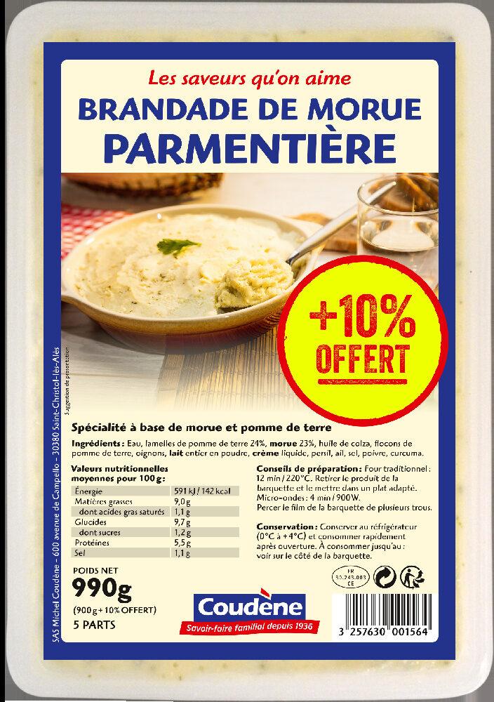 Brandade de morue parmentière Coudène - Produit - fr