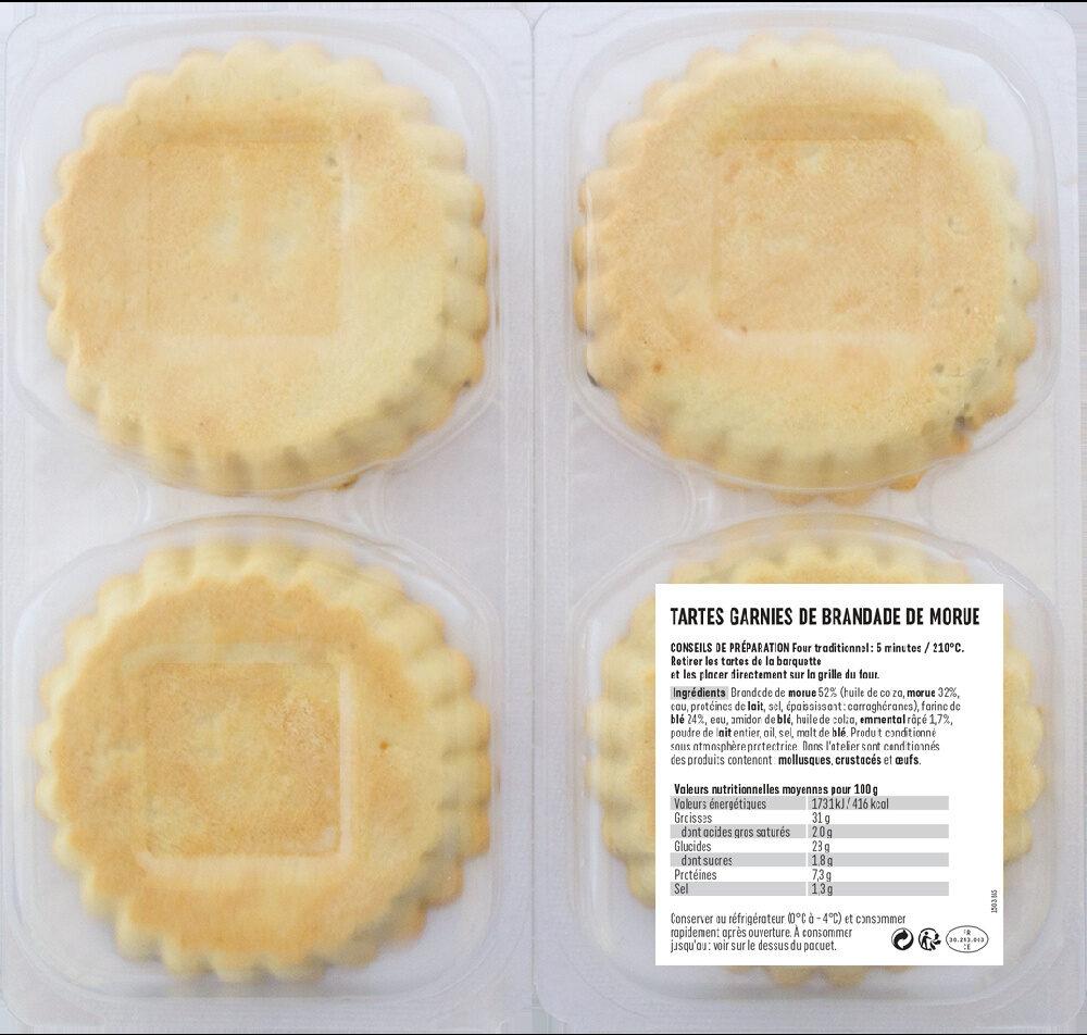 Tartes brandade - Ingredients - fr