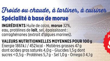 Brandade de morue Coudène - Ingredients