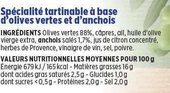 Tapenade verte Coudène - Ingredients