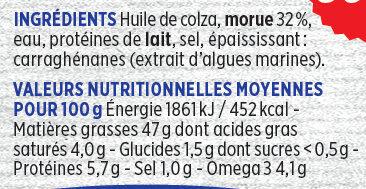 Brandade de morue - Informations nutritionnelles