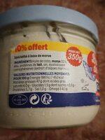 La brandade de morue - Nutrition facts - fr