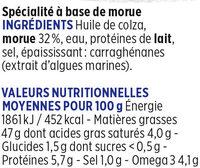 Brandade de morue fraîche Coudène - Ingredients