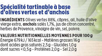 Tapenade verte Coudène - Ingrédients - fr