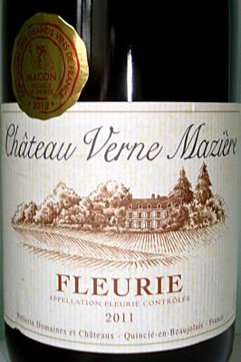 Fleurie Chateau Verne Mazière 2011 - Produit