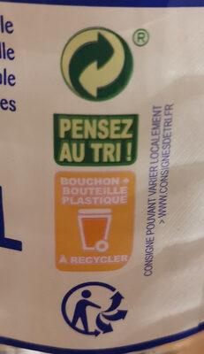 Eau minérale naturelle - Recycling instructions and/or packaging information - fr