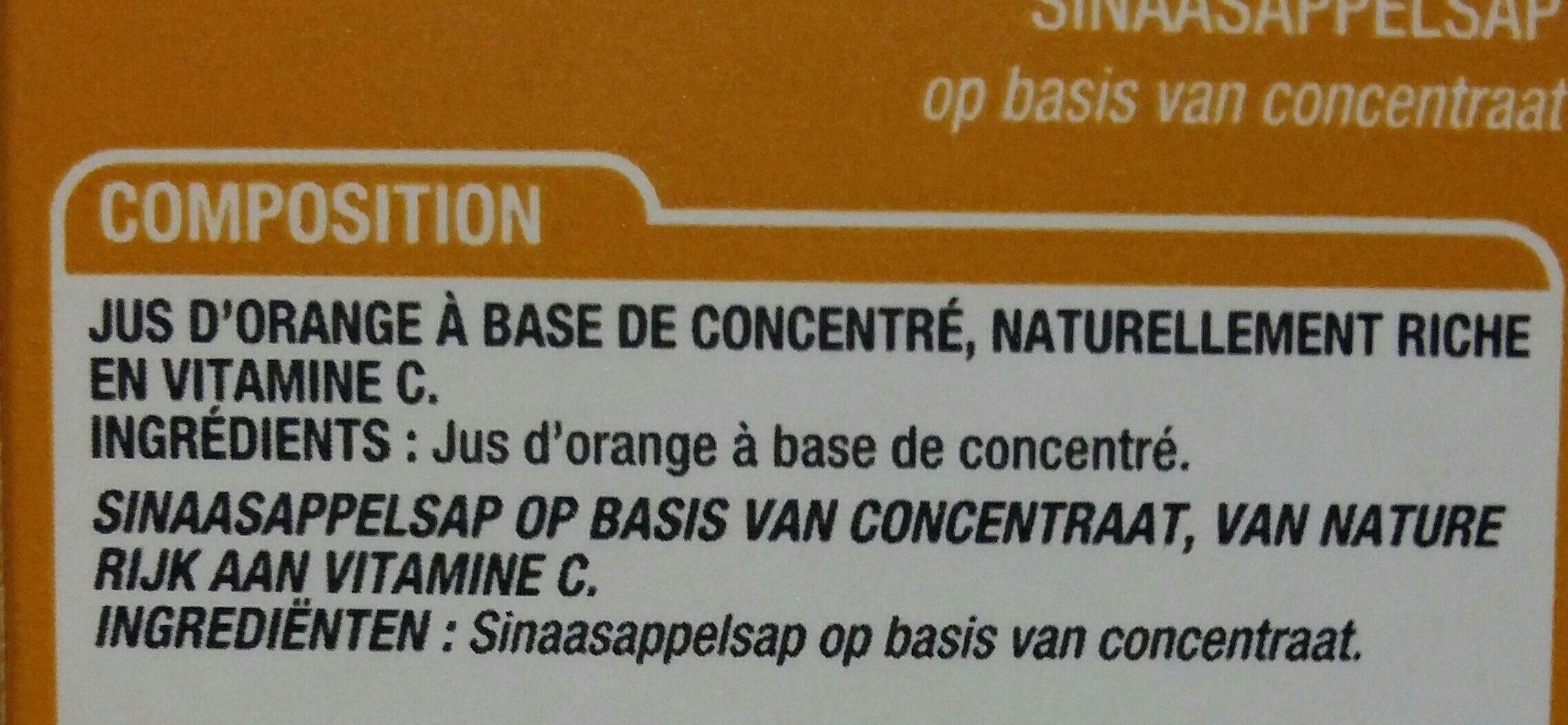 Jus orange - Ingrediënten