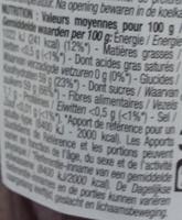 Confiture extra Fraise - Voedingswaarden - fr