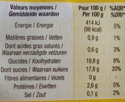 Flans Nappés De Caramel - Voedingswaarden