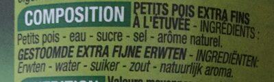 Petits pois à l'étuvée - Ingrédients - fr