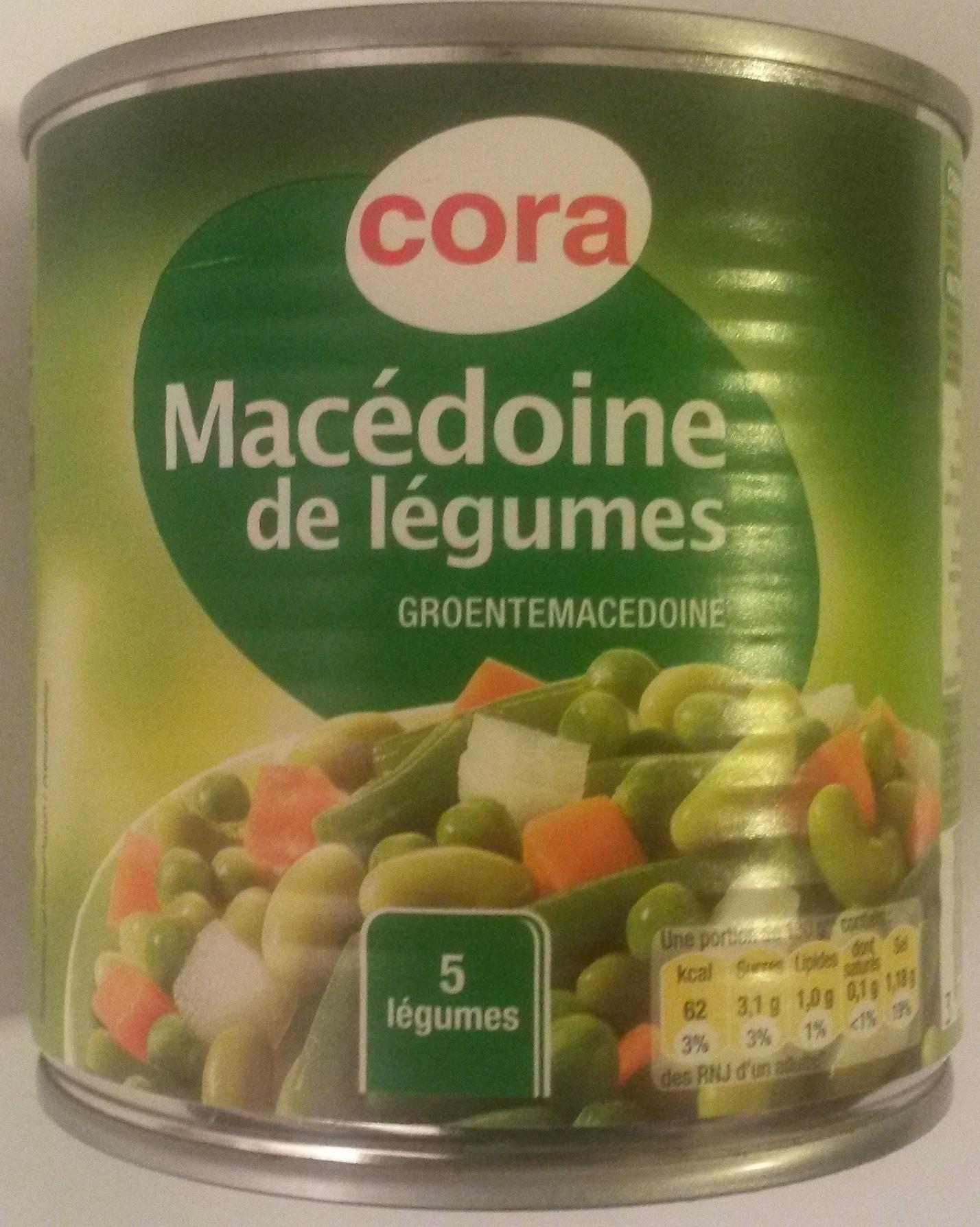 Macédoine de légumes (5 légumes) - Produit