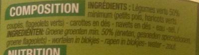 Macédoine de légumes (5 légumes) - Ingredients