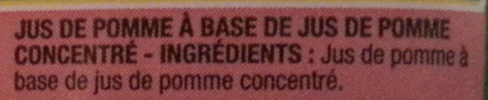 Jus Pomme - Ingrediënten - fr
