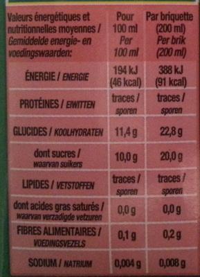 Jus Pomme - Voedingswaarden - fr