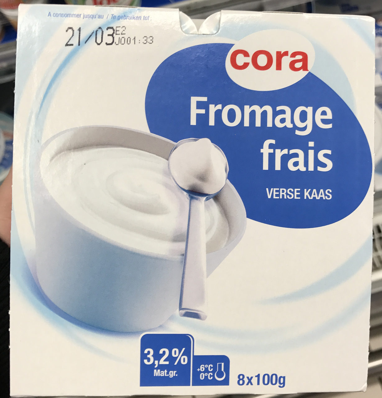 Fromage frais (3,2% MG) - Produit - fr