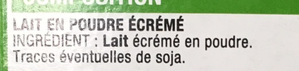 Lait écrémé en poudre - Ingrédients - fr