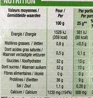 Lait écrémé en poudre - Informations nutritionnelles - fr