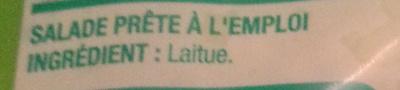 Cœurs de Laitue - Ingrédients