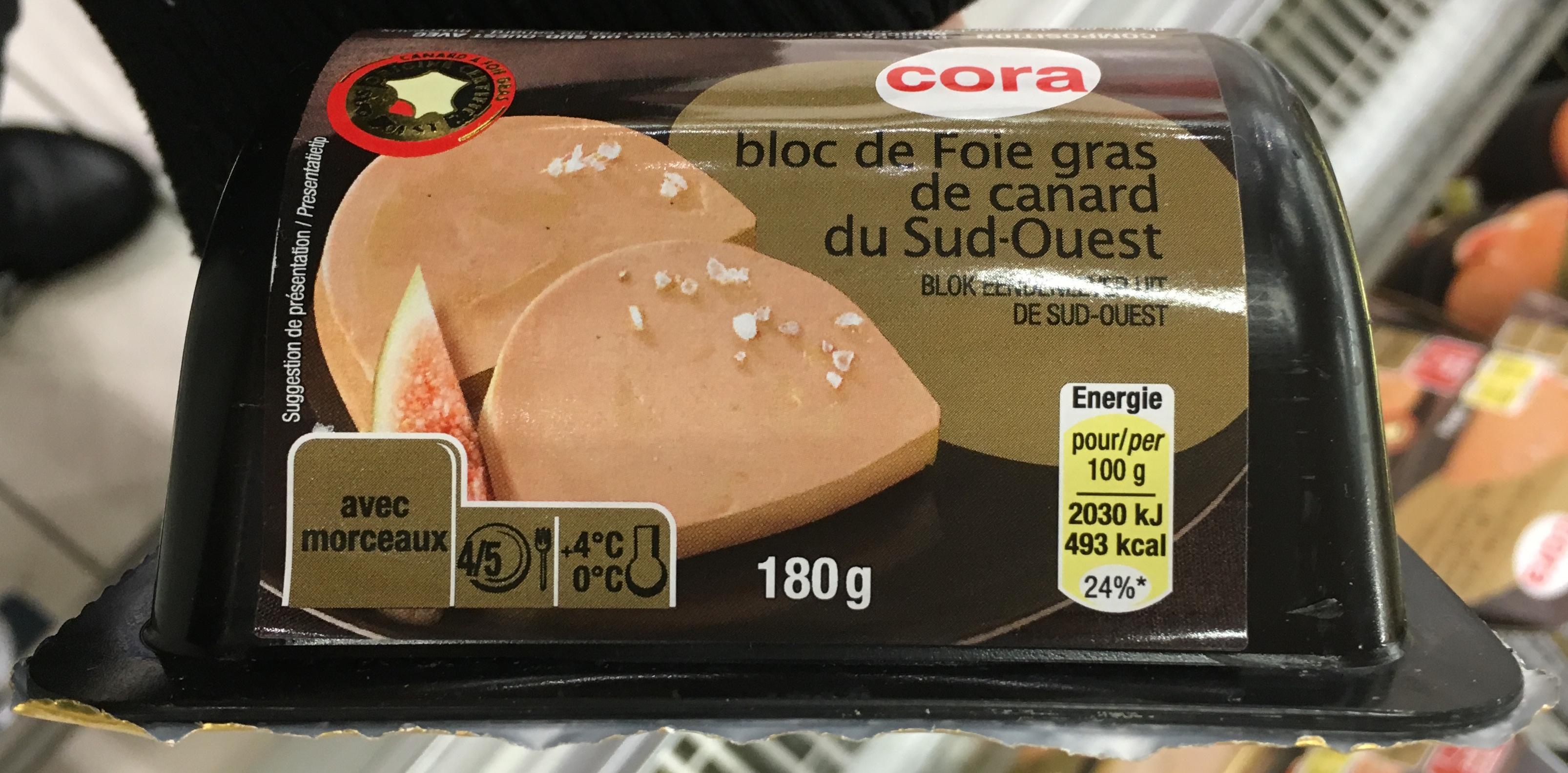 Bloc de Foie gras de canard du Sud-Ouest - Product - fr