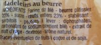 Madeleines De Commercy - Pur Beurre - Ingredients - fr