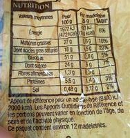 Madeleines De Commercy - Pur Beurre - Nutrition facts - fr