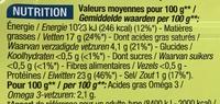 Sardines à l'huile de tournesol - Nutrition facts - fr