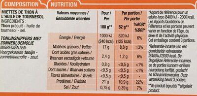 Miettes de Thon à l'huile de tournesol - Ingredienti - fr
