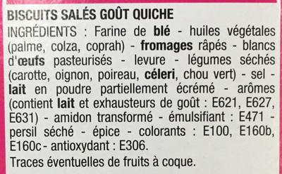 Crackers goût quiche - Ingrediënten - fr